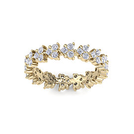 GLAM ® Eternity ring in 18K gold with white diamonds of 1.07 ct in weight