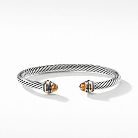 David Yurman Cable Classic Bracelet with Citrine and 14K Gold_5 mm