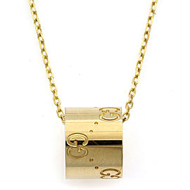 GUCCI 18K Yellow Gold icon Necklace CHAT-932