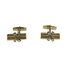 14K Yellow and White Gold Cufflinks