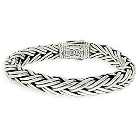 Scott Kay 925 Sterling Silver & 18K Yellow Gold Cable Bracelet