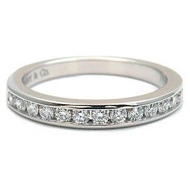 Tiffany & Co. platinum Diamond Half Circle Channel-set Ring