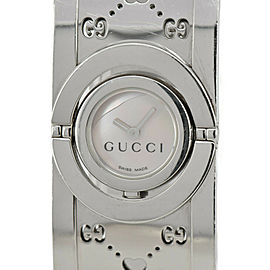 GUCCI Twirl 112 White shell Dial Quartz Ladies Bangle Watch
