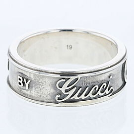 GUCCI Vintage logo 925 Silver Ring TBRK-278