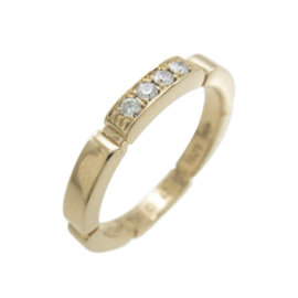 Cartier Maillon Panthere 18K Rose Gold Diamond Ring Size 4