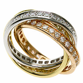 CARTIER Diamond 3 Gold Trinity Ring