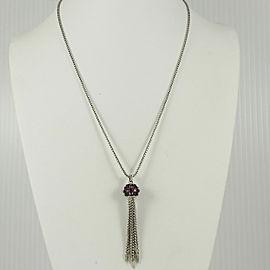 David Yurman Sterling Silver Osetra Rhodolite Garnet Tassel Necklace