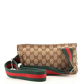 Gucci Vintage Web Belt Bag GG Canvas with Leather