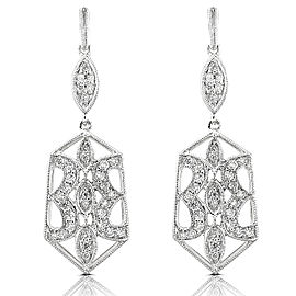 Diamond Earrings 1/2 Carat (ctw) in 14k White Gold