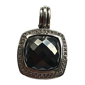 David Yurman Albion Hematine and Pave Diamonds Pendant