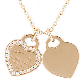 TIFFANY & Co. 18K Pink Gold Diamond Return to Tiffany Necklace