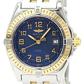 Polished BREITLING Wings Quartz 18K Gold Steel Quartz Ladies Watch