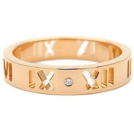 Tiffany & Co. 4P Diamond & 18k Rose Gold Pierced Atlas Ring