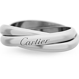 Cartier Trinity Ring 18K White Gold Size 9.5