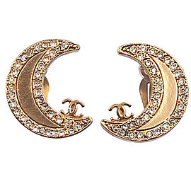 Chanel Rare Gold Moon Clip on Earrings