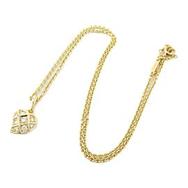 Cartier 18K Yellow gold Heart motif diamond necklace rcb-13