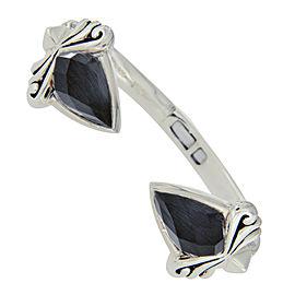 Stephen Webster 925 Sterling Silver Cat's Eye Quartz Crystal Haze Superstud Bracelet