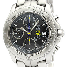 Polished TAG HEUER Stainless steel Link Chronograph Ayrton Senna Limited Watch
