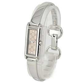 GUCCI 109 G-LINE Brown Dial SS Quartz Ladies Watch