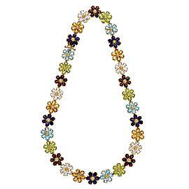 Antique Citrine Peridot Paste Collier Necklace