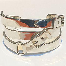 Hermes Debridee Cuff Bracelet Sterling Silver