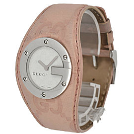 GUCCI 104L YA104537 Silver/Pink Dial Quartz Ladies Watch