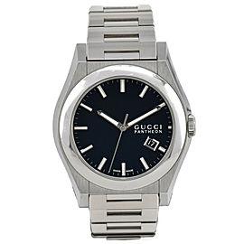 Gucci Pantheon 115.2/YA115209 Black Dial Date Quartz Men's Watch