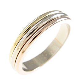 Cartier 18K Pink Gold/18K Yellow Gold/18K White Gold Three Gold Wedding Ring TkM-199