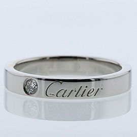 CARTIER platinum/diamond Engraved Ring