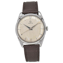Vintage OMEGA 1958s SS/Leather Cal.284 Hand-winding Men's Watch