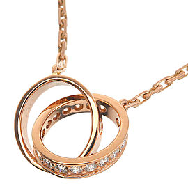 Cartier Diamond Rose Gold Baby Love Necklace