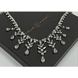 Platinum Women's 45ct Diamond Necklace with Diamonds