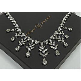 Platinum Women's 45ct Diamond Necklace with Diamonds