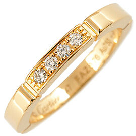Cartier 4P Diamond Yellow Gold maillon panthère Ring