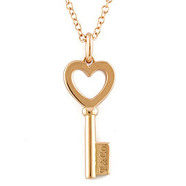 TIFFANY&Co. 18K Pink Gold Heart key Necklace