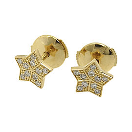 Fred 18K Yellow Gold & Diamond Earrings