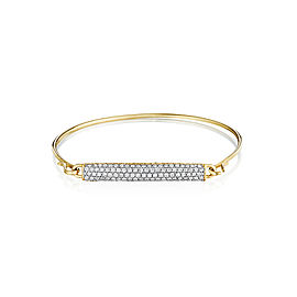 Yellow Gold and Diamond Bar Bracelet