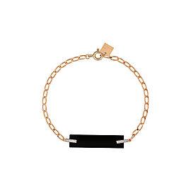 GINETTE NY 18K Rose Gold Onyx And Diamond Art Deco Bracelet