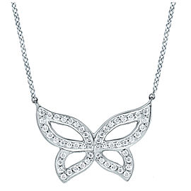 Small Pave Diamond Butterfly Necklace 16""