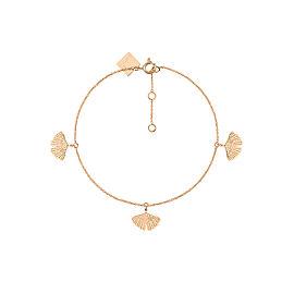 GINETTE NY 18K Rose Gold Gingko Bracelet