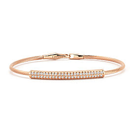 "I.Reiss 1.7mm Super-Flex Semi-Hollow Wire ""ID"" Bracelet"