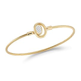 I. Reiss BIR470Y 14k Yellow Gold diamonds0.1 H-SI Diamonds Bracelet