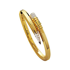 TZURI Yellow Gold Large Signature Bracelet