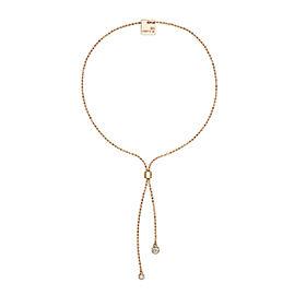 GINETTE NY 18K Rose Gold Lonely Diamond Bracelet 21.5cm