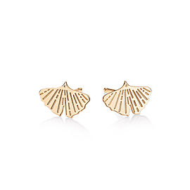 GINETTE NY 18K Rose Gold Gingko Studs