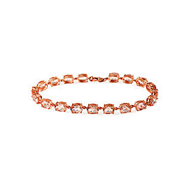 14K Rose Gold Morganite Bracelet