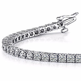2.75 Carat Total Round Diamond Tennis Bracelet in 14 Karat White Gold