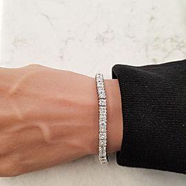 EGL Certified 20.66 Carat Total VS Princess Cut Diamond Tennis Bracelet