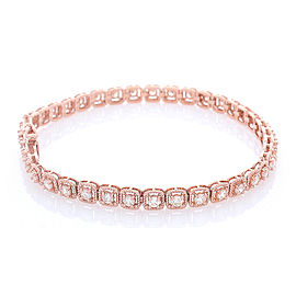 2.50 Carat Total Diamond Bracelet in 14 Karat Rose Gold