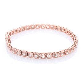 2.50 Carat Total Diamond Bracelet in 14 Karat Rose Gold